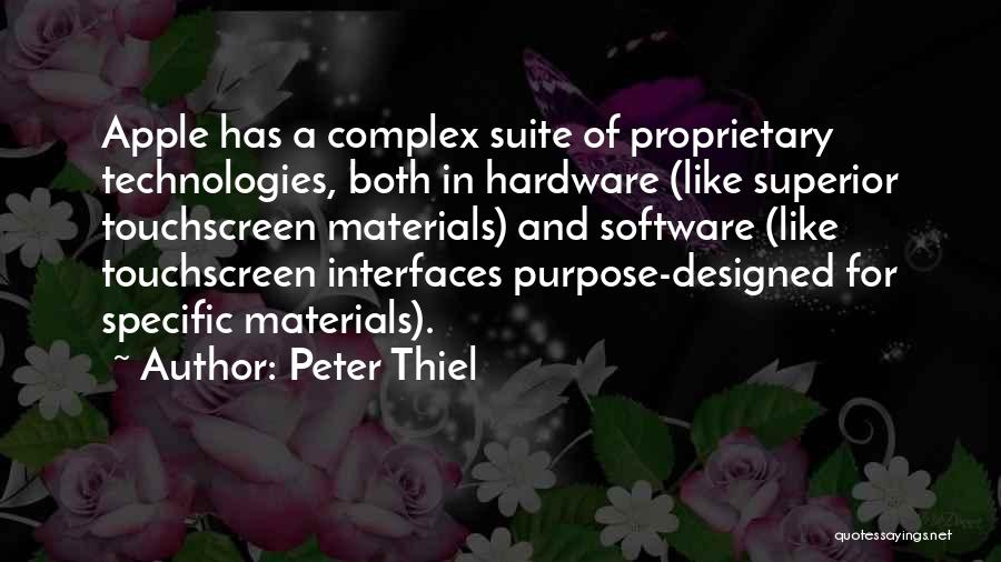 Hardware And Software Quotes By Peter Thiel