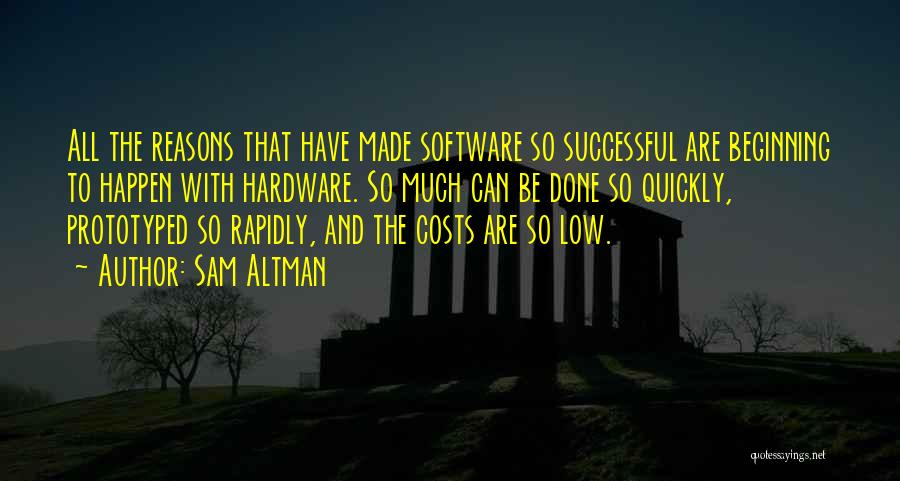 Hardware And Software Quotes By Sam Altman