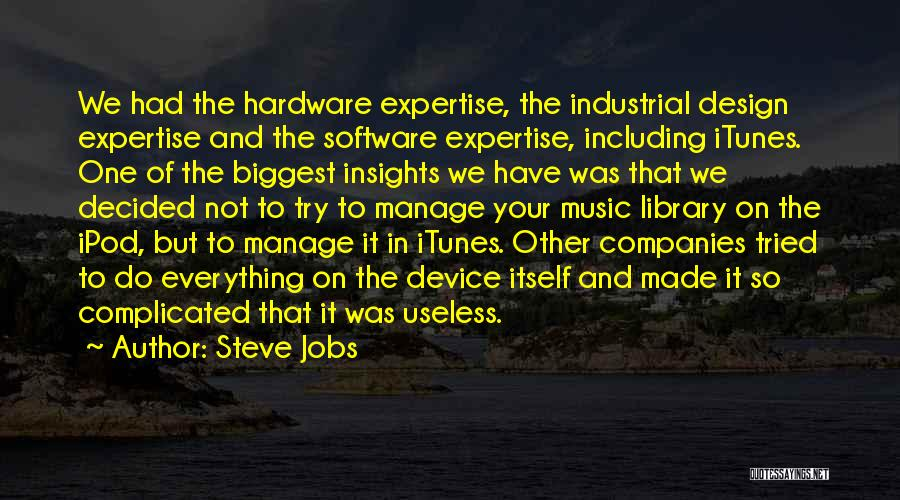 Hardware And Software Quotes By Steve Jobs