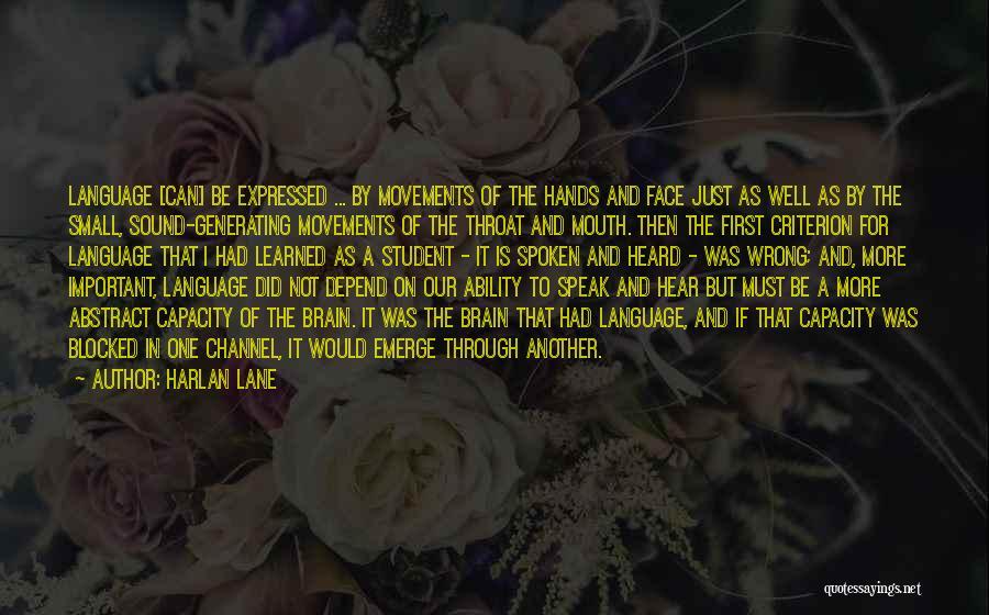 Harlan Lane Quotes 1819019