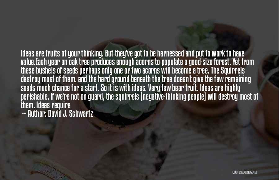 Harnessed Quotes By David J. Schwartz