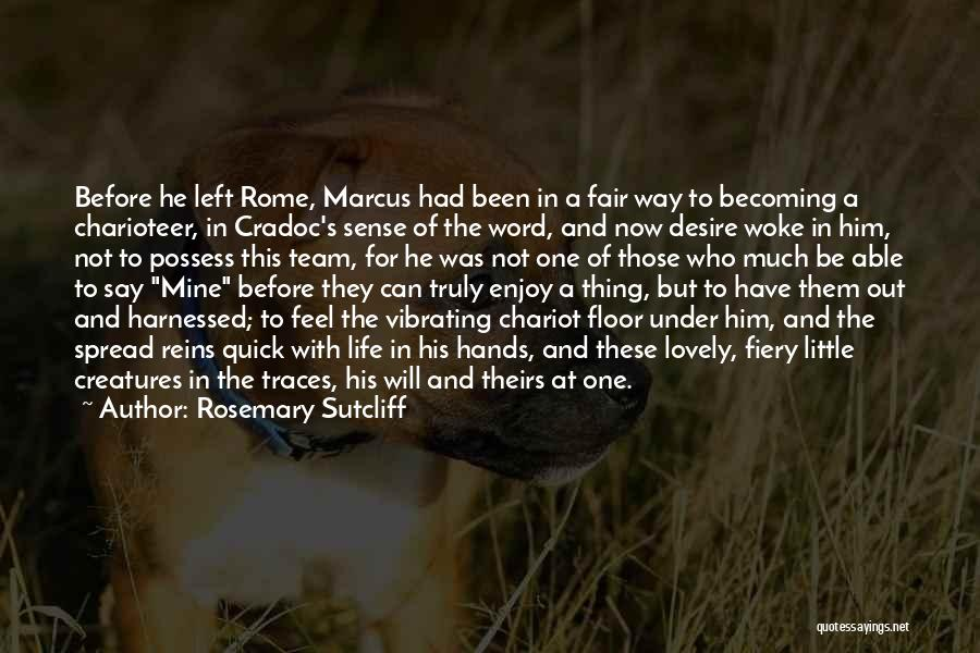 Harnessed Quotes By Rosemary Sutcliff