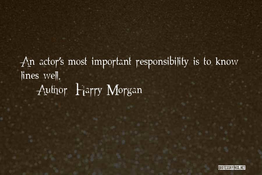 Harry Morgan Quotes 1170899