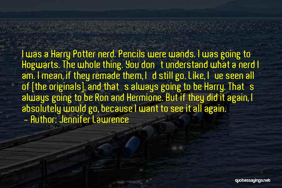 Harry Potter Hermione And Ron Quotes By Jennifer Lawrence