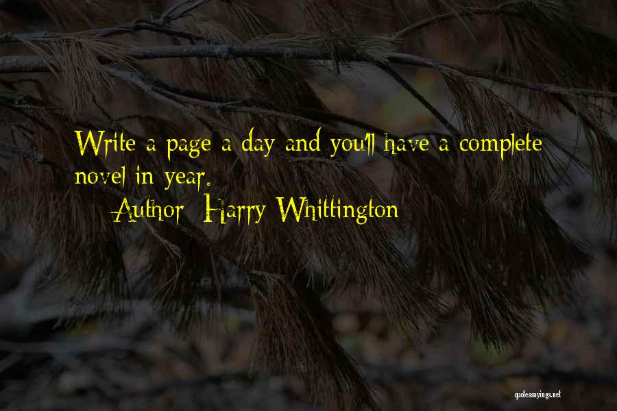 Harry Whittington Quotes 1367748