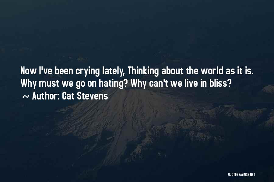 Hate In The World Quotes By Cat Stevens