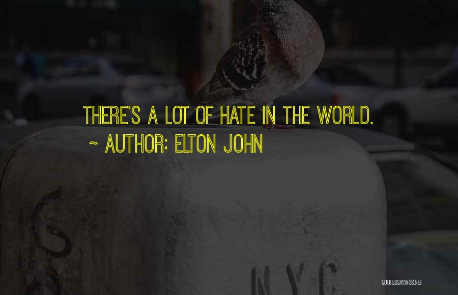Hate In The World Quotes By Elton John
