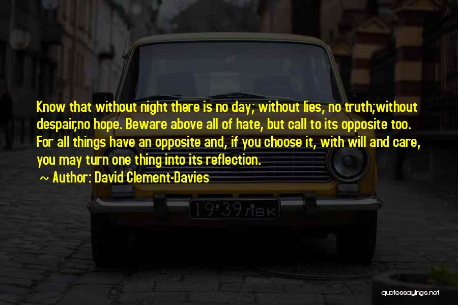 Hate No One Quotes By David Clement-Davies