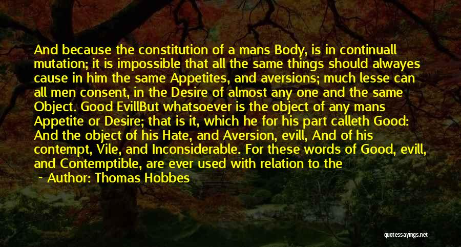 Hate No One Quotes By Thomas Hobbes