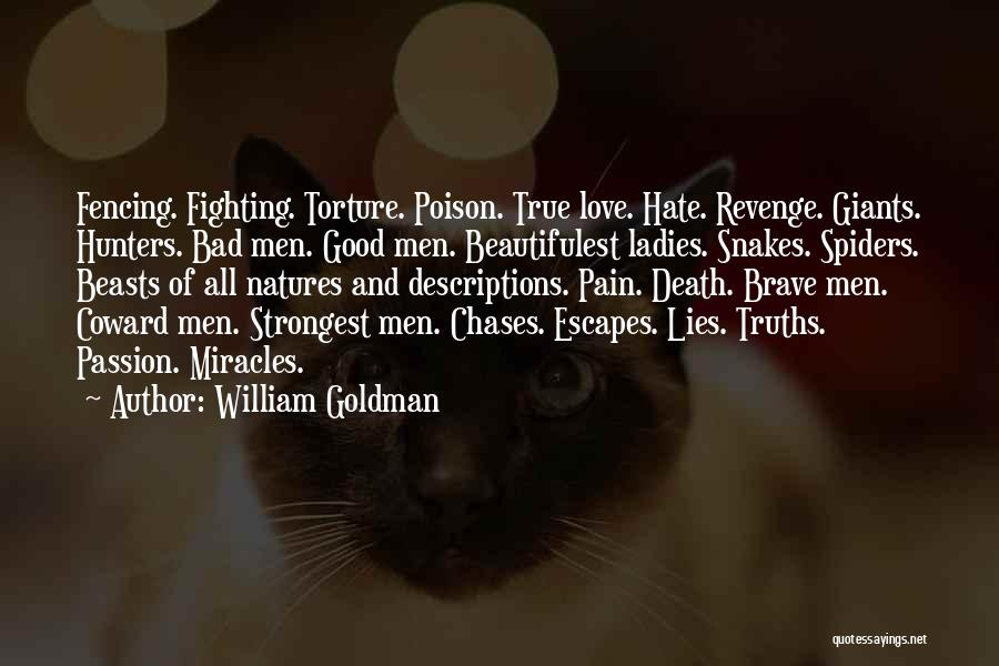 Hate Spiders Quotes By William Goldman