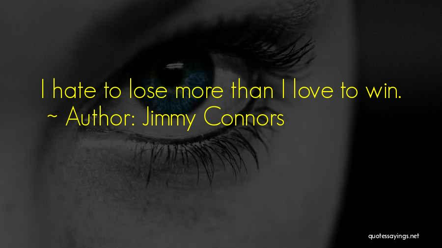 Hate To Lose Love To Win Quotes By Jimmy Connors