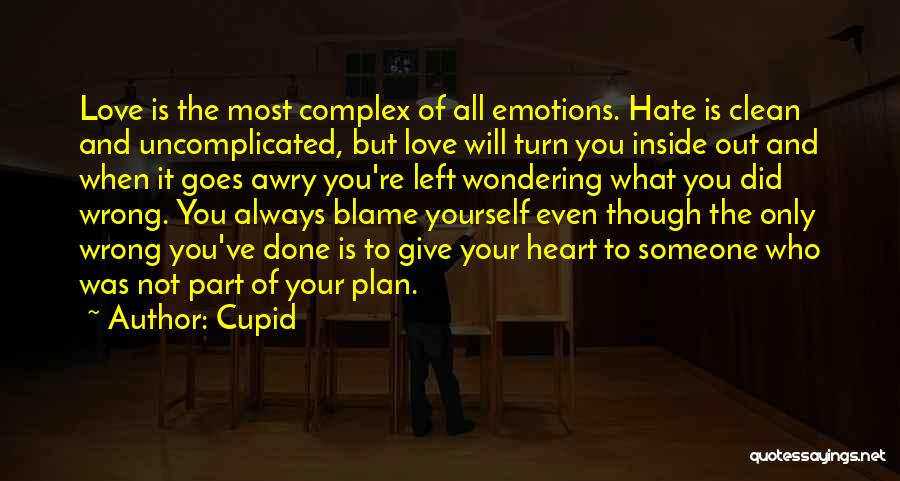 Hate What You Did Quotes By Cupid
