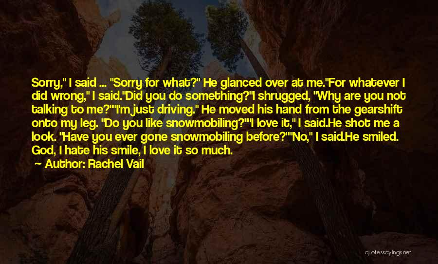 Hate What You Did Quotes By Rachel Vail