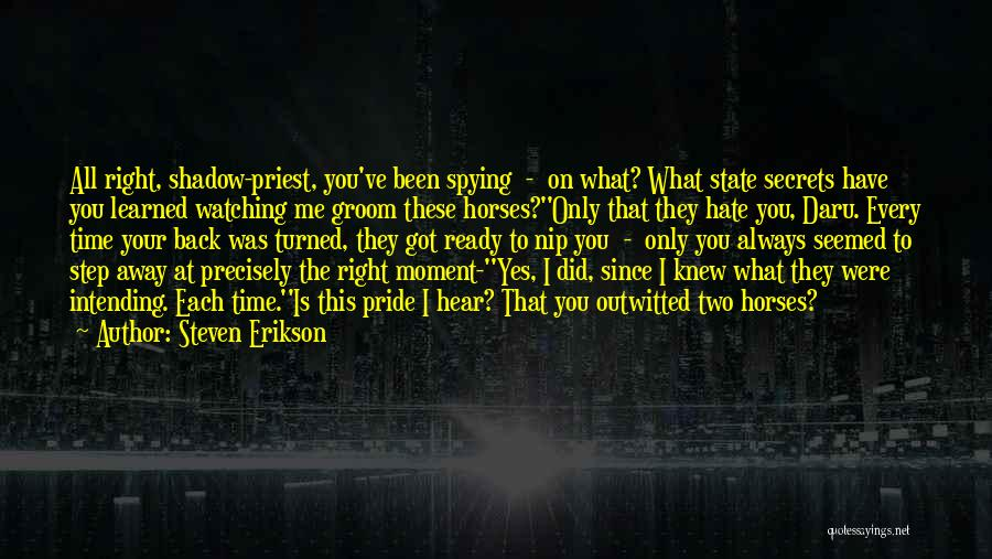 Hate What You Did Quotes By Steven Erikson