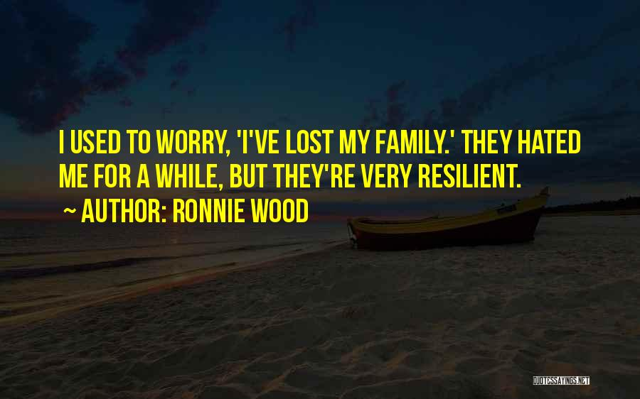Hated Family Quotes By Ronnie Wood