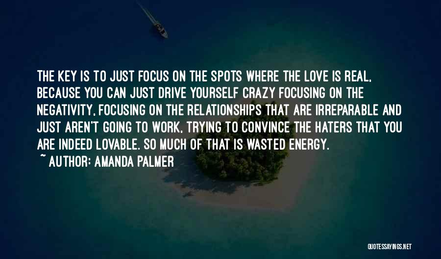 Haters Of Love Quotes By Amanda Palmer