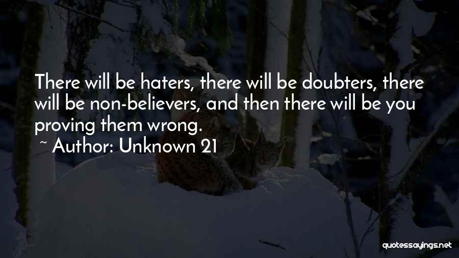 Haters Of Love Quotes By Unknown 21