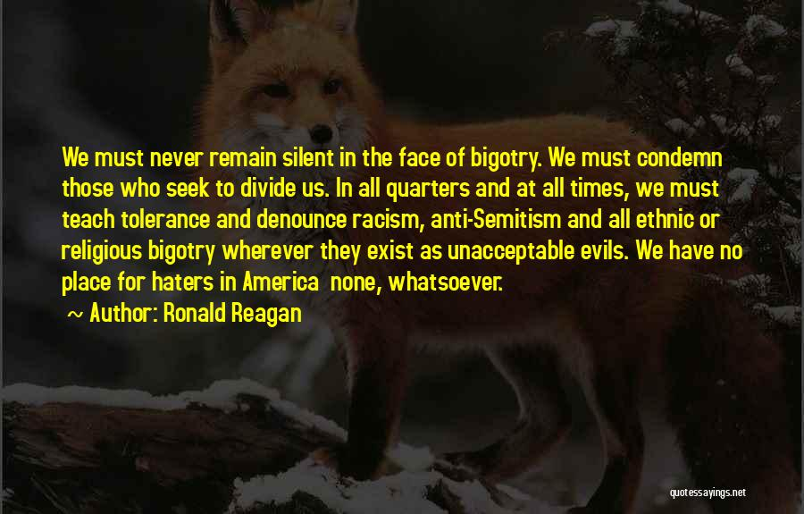 Haters Quotes By Ronald Reagan