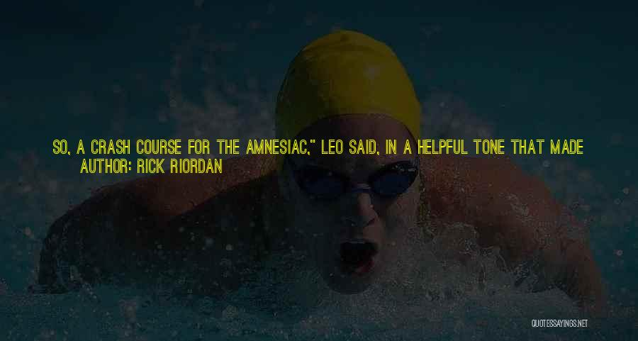 Hats In School Quotes By Rick Riordan
