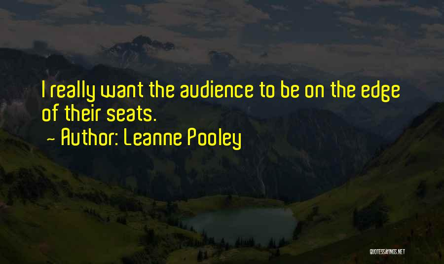 Have Several Seats Quotes By Leanne Pooley