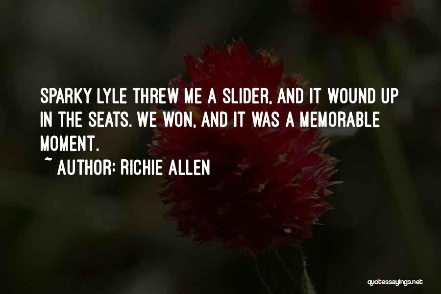 Have Several Seats Quotes By Richie Allen