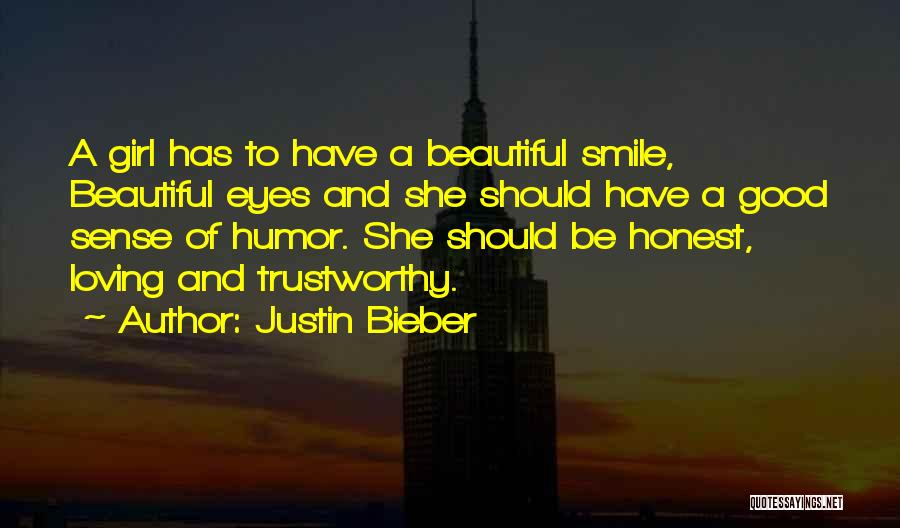 Having A Cute Smile Quotes By Justin Bieber