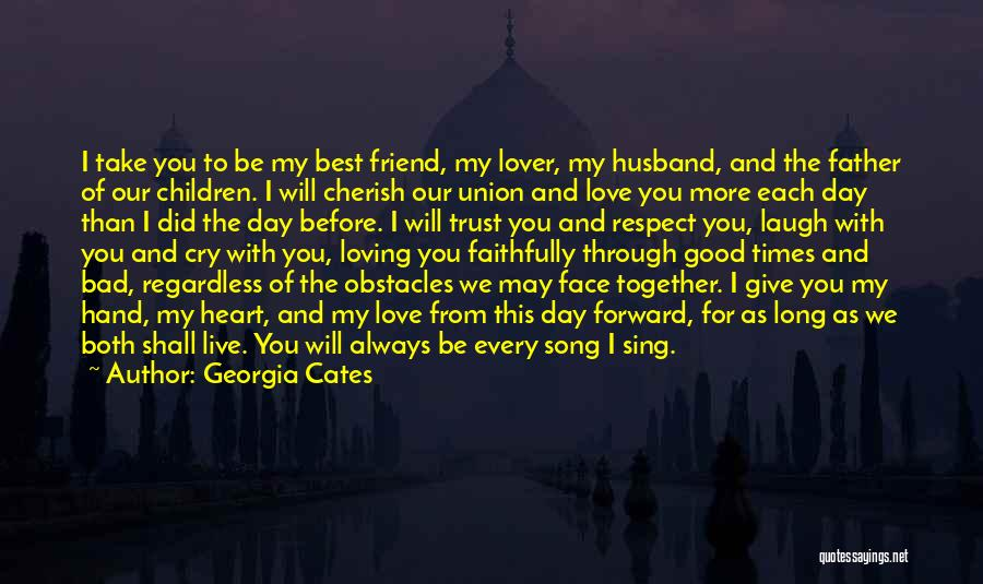 Having A Loving Husband Quotes By Georgia Cates