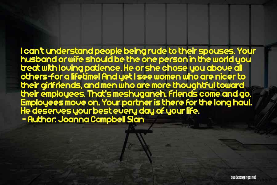 Having A Loving Husband Quotes By Joanna Campbell Slan