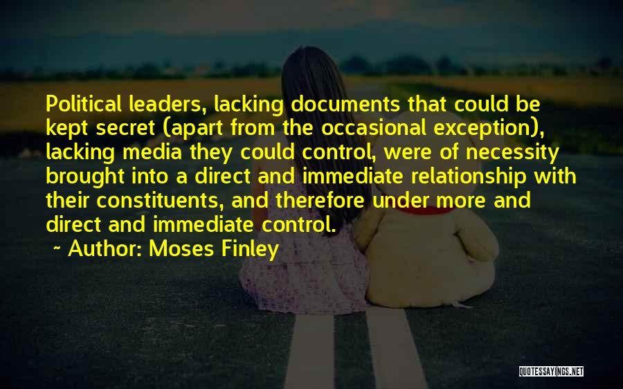 Having A Secret Relationship Quotes By Moses Finley
