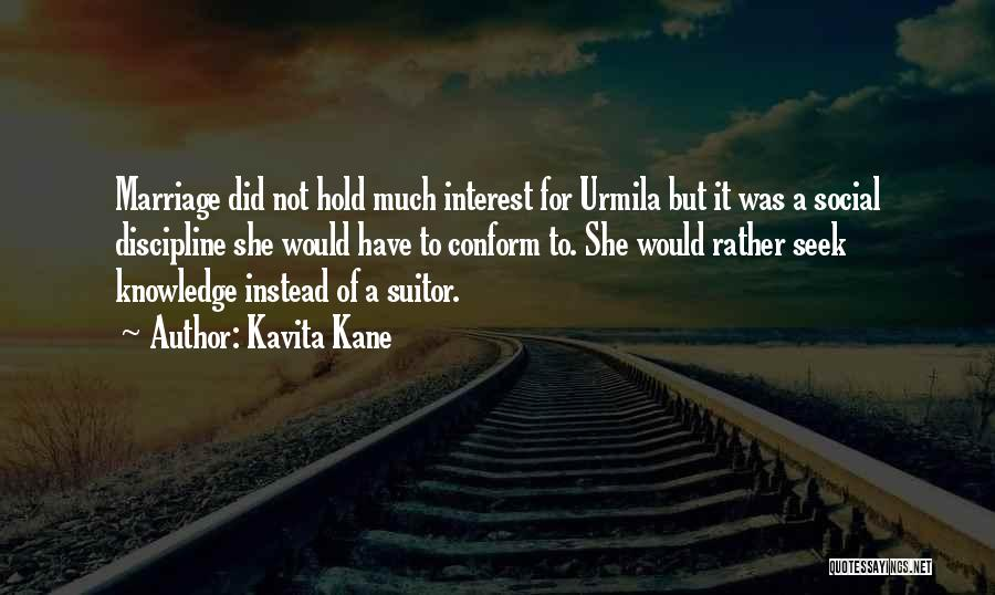 Having A Suitor Quotes By Kavita Kane