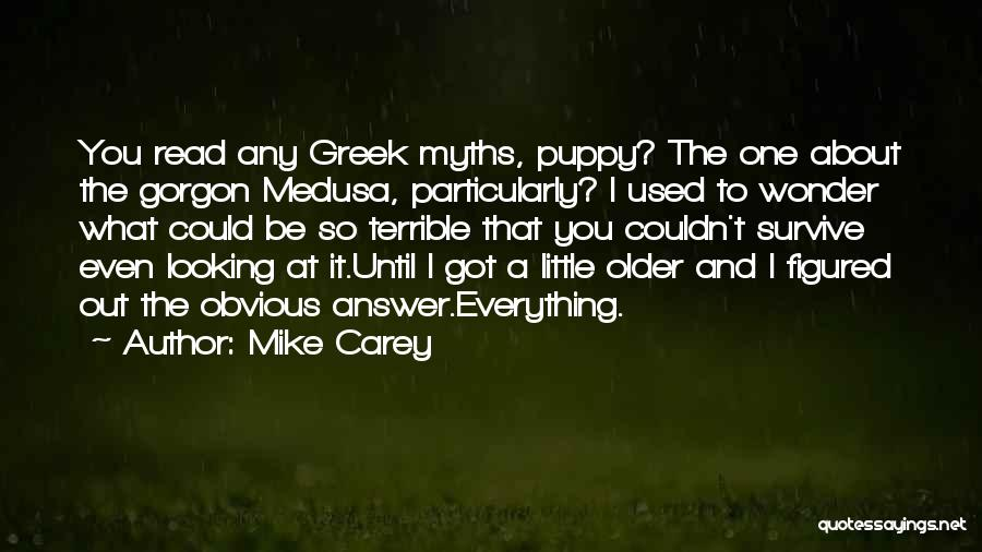 Having An Answer For Everything Quotes By Mike Carey