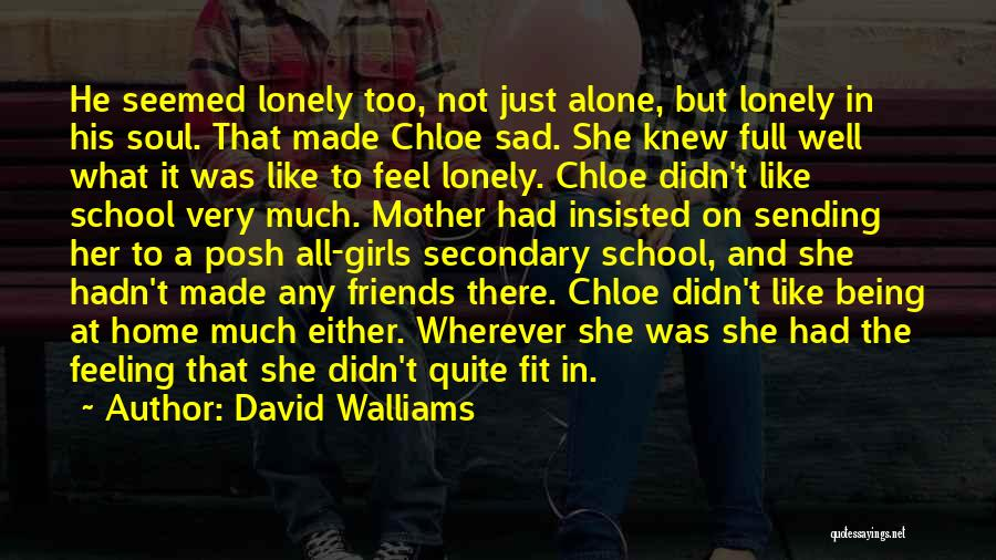 Having Friends But Feeling Lonely Quotes By David Walliams