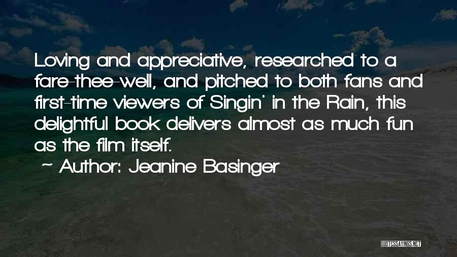 Having Fun In The Rain Quotes By Jeanine Basinger