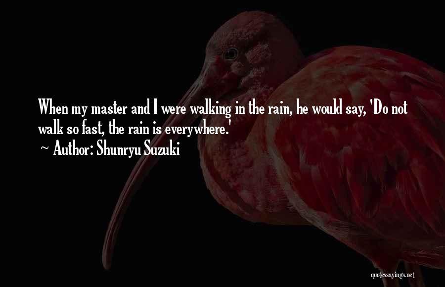 Having Fun In The Rain Quotes By Shunryu Suzuki