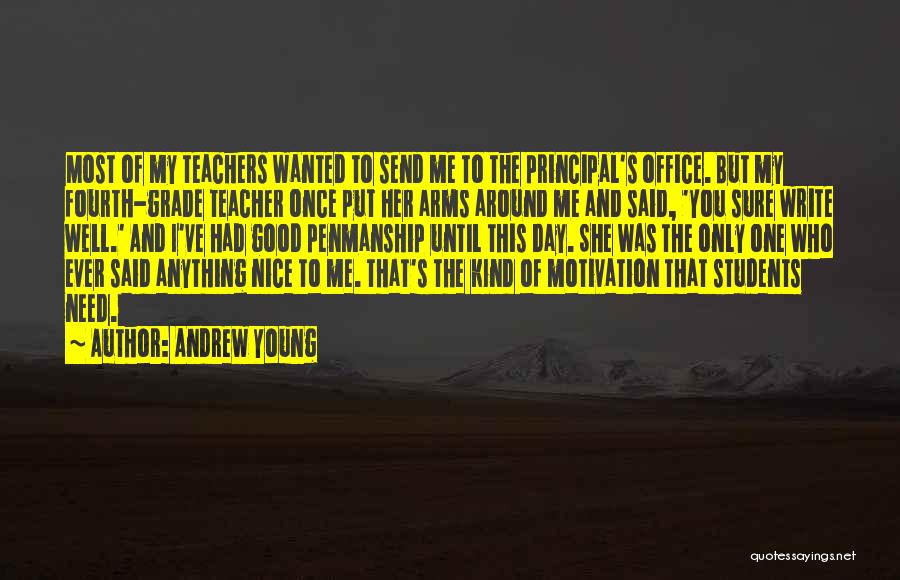 Having Good Teachers Quotes By Andrew Young