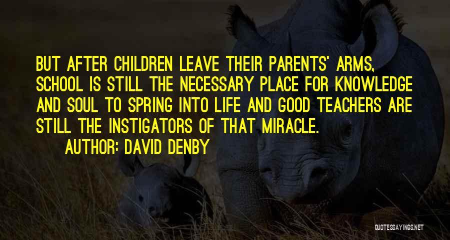 Having Good Teachers Quotes By David Denby
