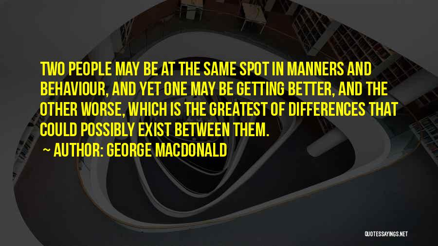 Having No Manners Quotes By George MacDonald