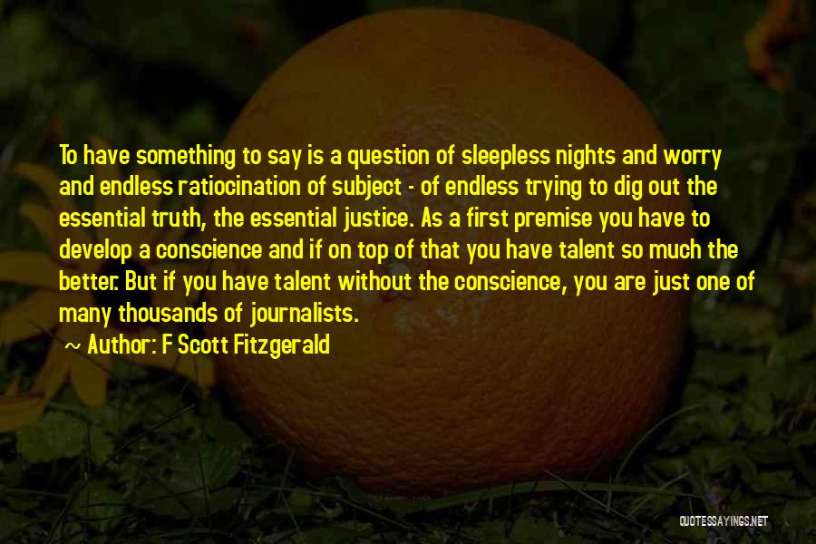 Having Sleepless Nights Quotes By F Scott Fitzgerald