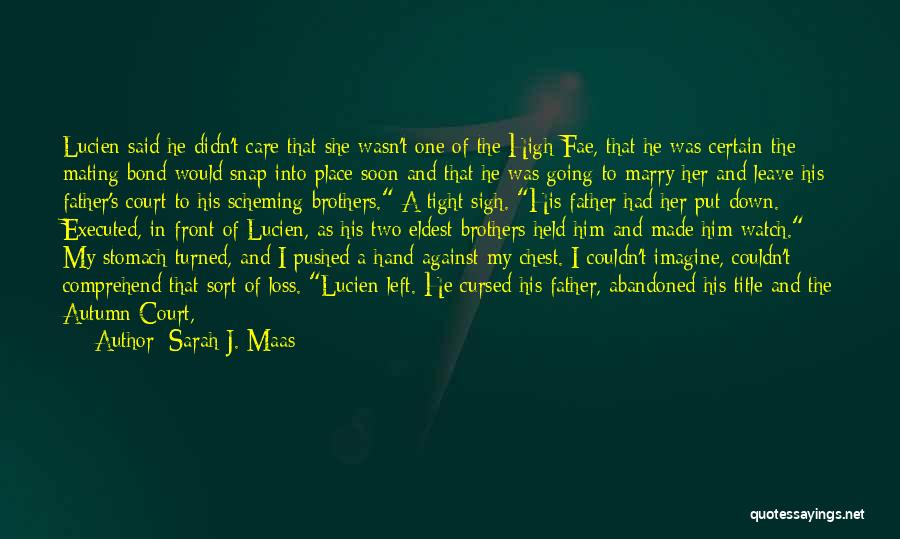 Having Two Brothers Quotes By Sarah J. Maas