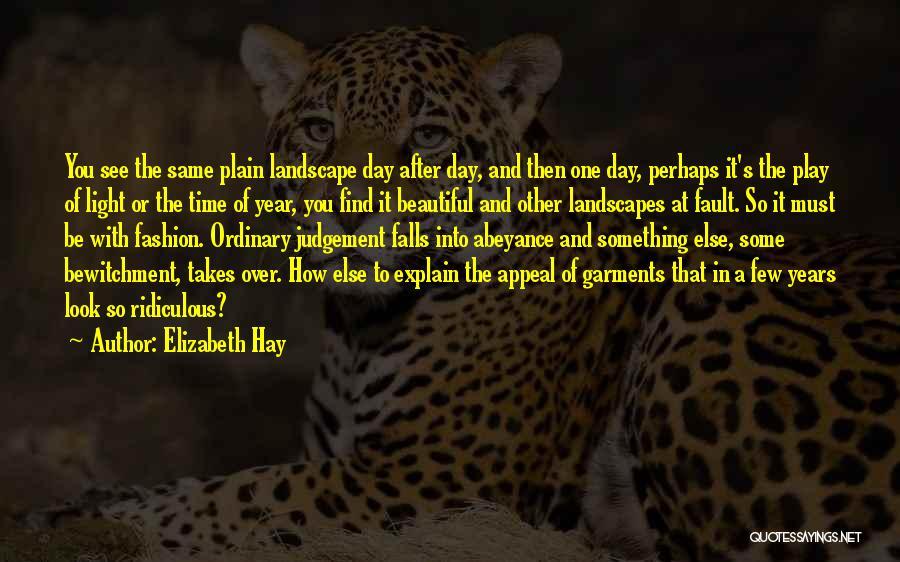 Hay Day Quotes By Elizabeth Hay