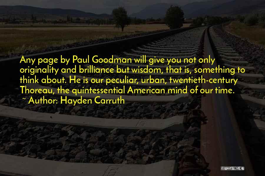 Hayden Carruth Quotes 287737