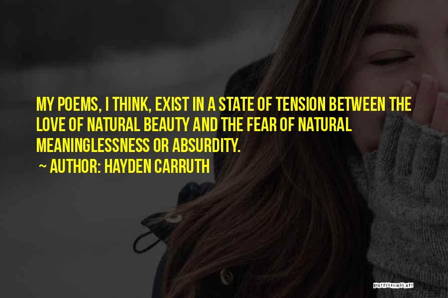 Hayden Carruth Quotes 551257