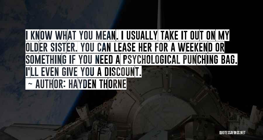 Hayden Quotes By Hayden Thorne