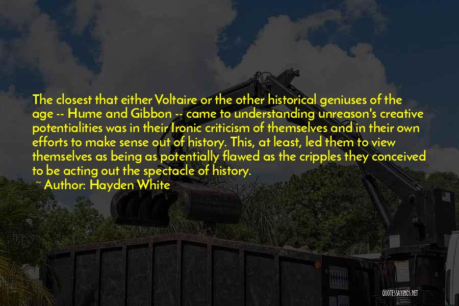 Hayden Quotes By Hayden White