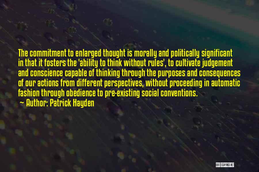 Hayden Quotes By Patrick Hayden
