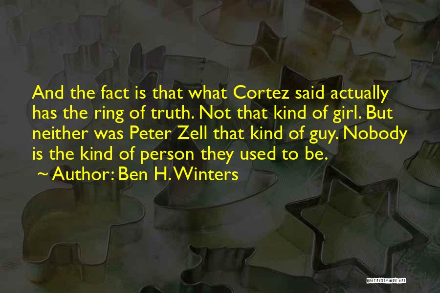 H'doubler Quotes By Ben H. Winters