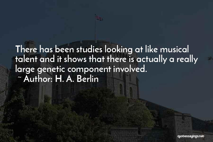 H'doubler Quotes By H. A. Berlin
