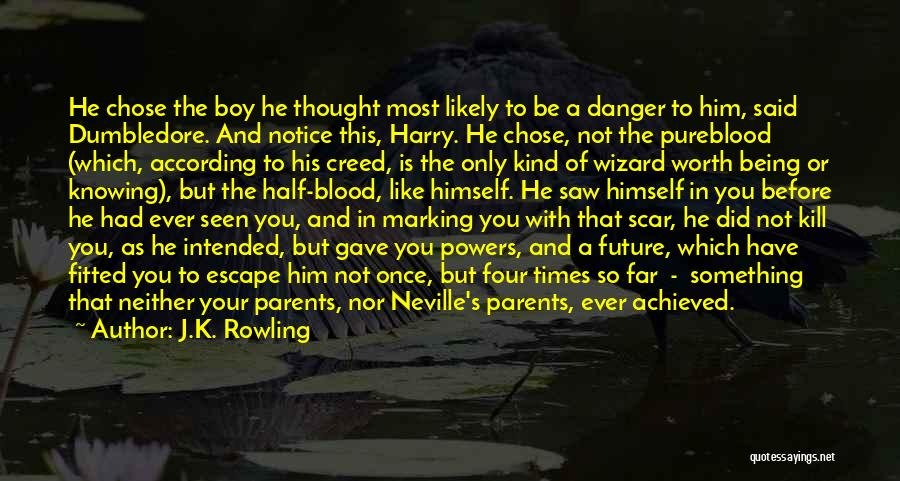 He Chose You Quotes By J.K. Rowling
