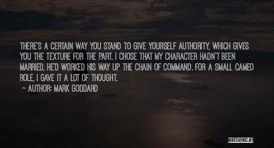 He Chose You Quotes By Mark Goddard