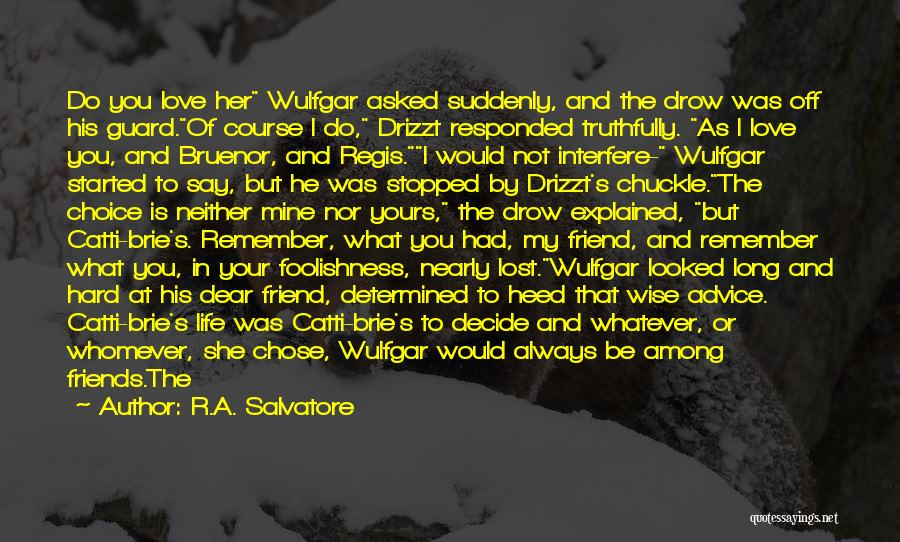He Chose You Quotes By R.A. Salvatore